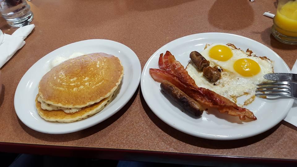 Premier petit déjeuner américain !
